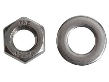 Hexagonal Nuts & Washers A2 Stainless Steel M8 ForgePack 12